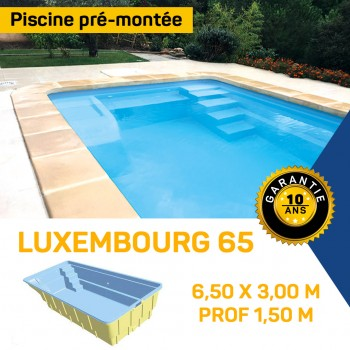 Piscine coque polyester Luxembourg 65